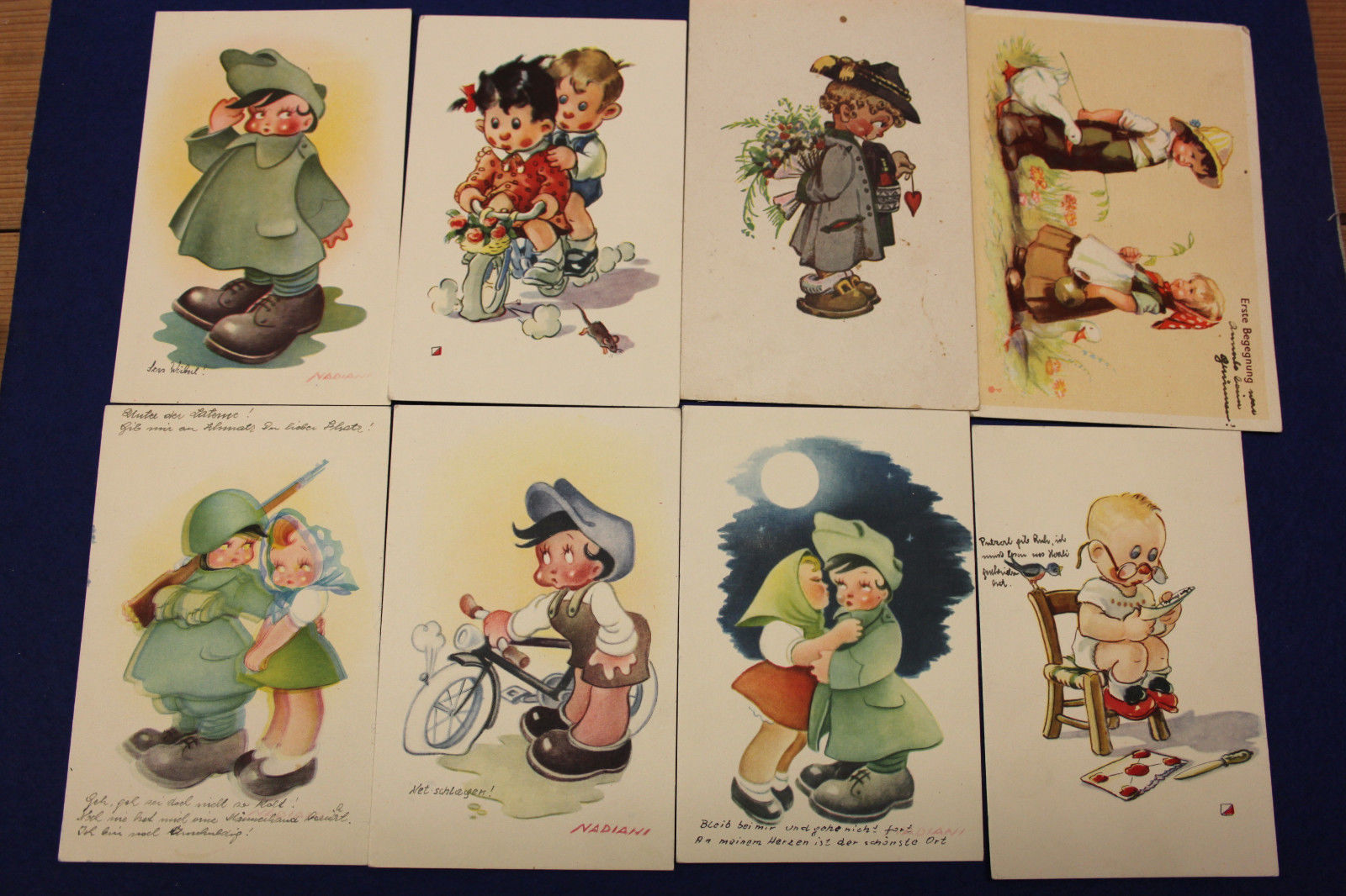 8 Italian postcards send to Germany (1944)